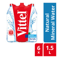 Vittel Natural Mineral Bottle Water