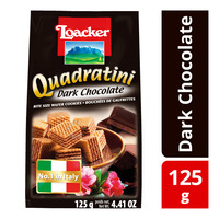 Loacker Quadraitini Bite Size Wafer Cookies - Dark Chocolate