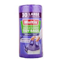 Multix Handy Ties Tidy Bags - Large (Lavender Scent)