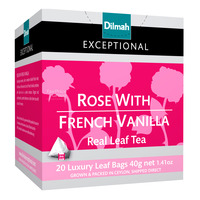 Dilmah Exceptional Tea Bags - Rose With French Vanilla