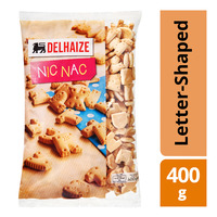 Delhaize Nic Nac Letter-Shaped Biscuits