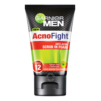 Garnier Men Acno Fight Cleanser Foam - Scrub in Foam(Anti-Acne)