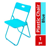 HomeProud Foldable Plastic Chair - Blue