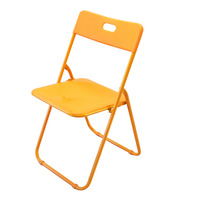 HomeProud Foldable Plastic Chair - Orange