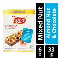 F&N aLive Energize Mixed Nut Bar - Almond Nut & Chocolate