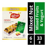 F&N aLive Renew Mixed Nut Bar - Mixed Fruits & Yogurt 6 x 33G