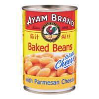 Ayam Brand Baked Beans - Parmesan Cheese 425G