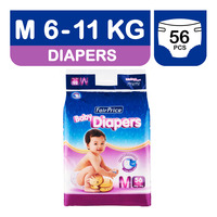 FairPrice Baby Diapers - M (6 - 11kg)  56S