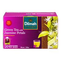 Dilmah Pure Ceylon Tea Bags - Green Tea & Jasmine Petals