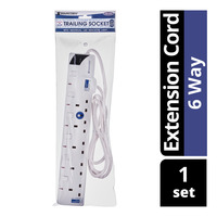 Soundteoh Extension Cord - 6 Way