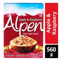 Alpen Muesli Cereals - Raspberry & Apple