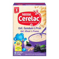 Nestle Cerelac Cereal - Oats, Wheat & Prunes (8 Months)