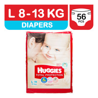 Huggies Total Protection Diapers - L (8 - 13kg)