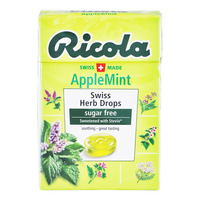 Ricola Natural Relief Swiss Herb Lozenges - Apple Mint (No Sugar)
