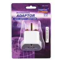 Morries Travel Adaptor with Safety Shutter