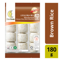 New Moon Wholemeal Mini Mantou - Brown Rice