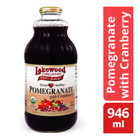 Lakewood Organic 100% Bottle Juice - Pomegranate with Cranberry