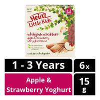 Heinz LittleKids Wholegrain Cereal Bars -Apple S'berry Yoghurt