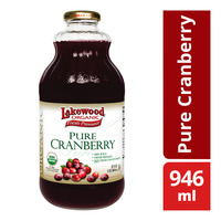Lakewood Organic 100% Bottle Juice - Pure Cranberry