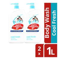 Lifebuoy Antibacterial Body Wash - Cool Fresh  2 x 1L