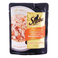 Sheba Cat Food Pouch - Tuna & Salmon