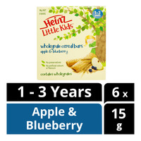 Heinz LittleKids Wholegrain Cereal Bars - Apple & Blueberry