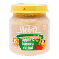 Heinz Baby Mashed Food - Apple & Banana Cereal (6+ Months)