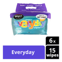 Zappy Alcohol Free Everyday Wipes