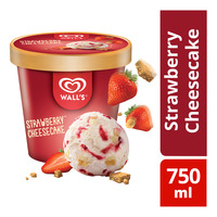 Wall's Selection Ice Cream Tub - Strawberry Cheesecake