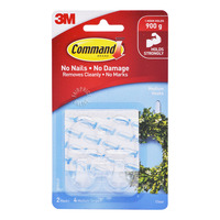 3M Command Clear Hooks - Medium
