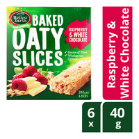 Mother Earth Baked Oaty Slices - Raspberry & White Chocolate