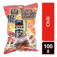 Un Chi Crispy Fish Skin Crackers - Chili
