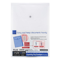 Plus Expanding Envelope Folder - Clear (Vertical)