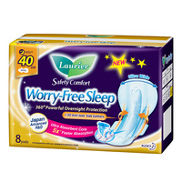 Laurier Worry-Free Sleep Gathers Night Pads - 40cm