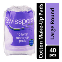 Swisspers Cotton Make-Up Pads - Large Round