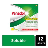 Panadol Soluble Effervescent Tablets - Lemon