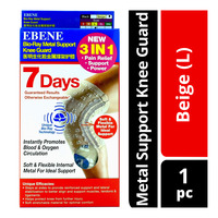 Ebene Bio-Ray 3 in 1 Metal Support Knee Guard - Beige (L)