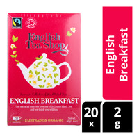 English Tea Shop Organic Tea Sachets - English Breakfast