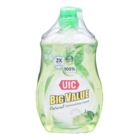 UIC Big Value Natural Dishwashing Liquid and Refill - Lime