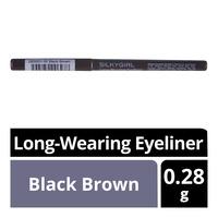 Silkygirl Long-Wearing Eyeliner - Black Brown