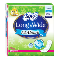 Sofy Long & Wide Pantyliners - Fit Absorb (Unscented)