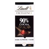 Lindt Excellence Chocolate Bar - 90% (Dark)