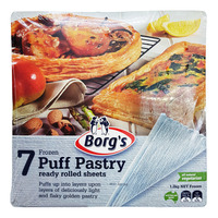 Borg's Frozen Puff Pastry Sheets - Ready Rolled