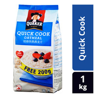 Quaker 100% Wholegrain Oatmeal Refill - Quick Cook