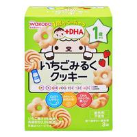 Wakodo Baby Snacks - Strawberry & Milk Cookies