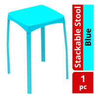 HomeProud Stackable Stool - Blue