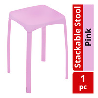 HomeProud Stackable Stool - Pink