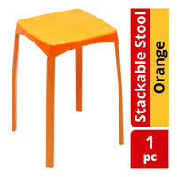 HomeProud Stackable Stool - Orange