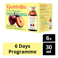 Kinohimitsu D'Tox Plum Bottle Juice - 6 Days Programme
