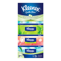 Kleenex Facial Tissue Box - Gentle Clean (3ply)